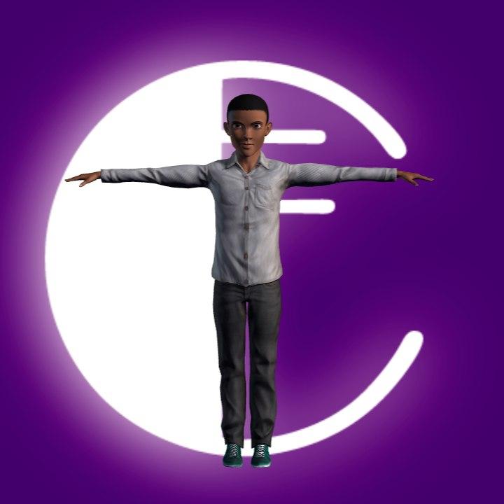 3d teenage boy
