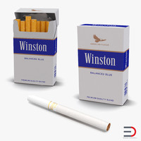 cigarettes winston 3d model