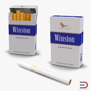 cigarettes winston 3d model
