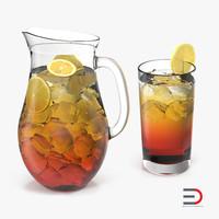 iced tea 3d model