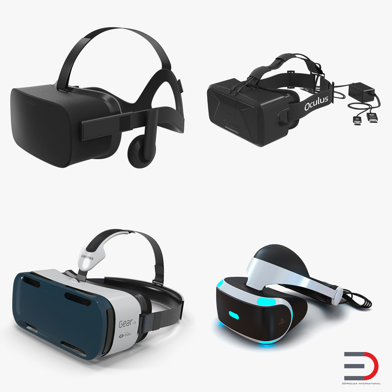 3d virtual reality goggles model