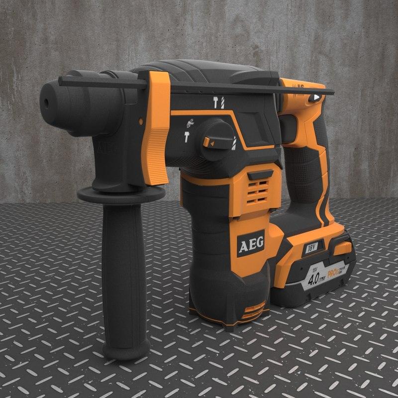 perforator aeg bbh 18 3d model