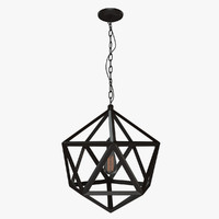 3d model loft polyhedron chandelier