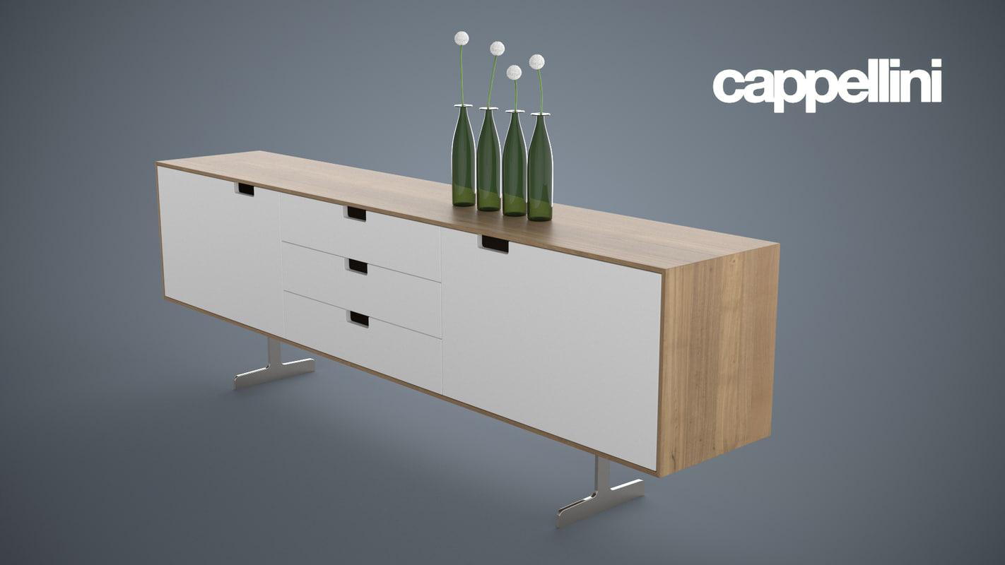 3d modern sideboard cappellini model