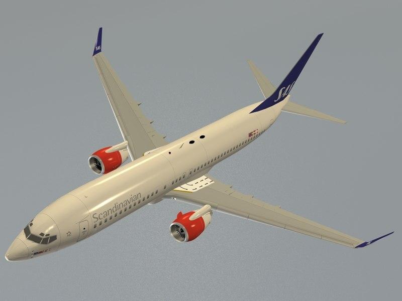 3d c4d b 737-800 sas