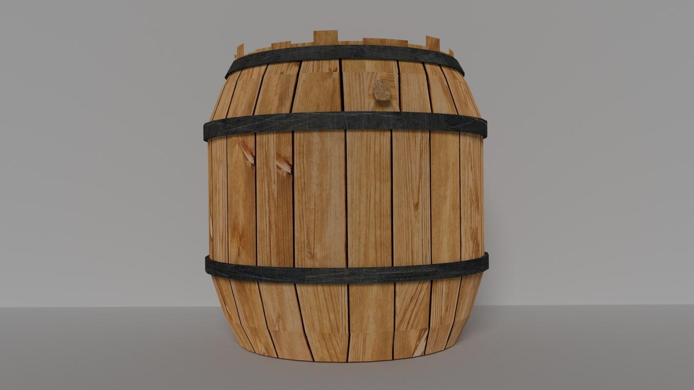 3d 3ds realistic barrel