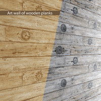 art wall wooden planks max