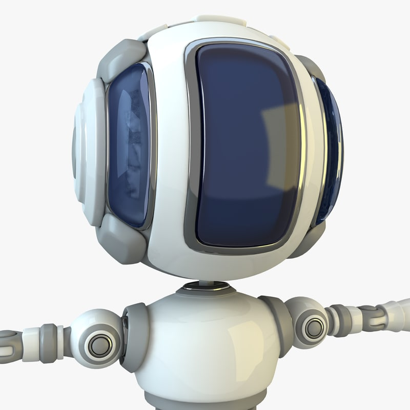 robot modelled 3d model