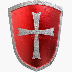 shield medieval 3d 3ds