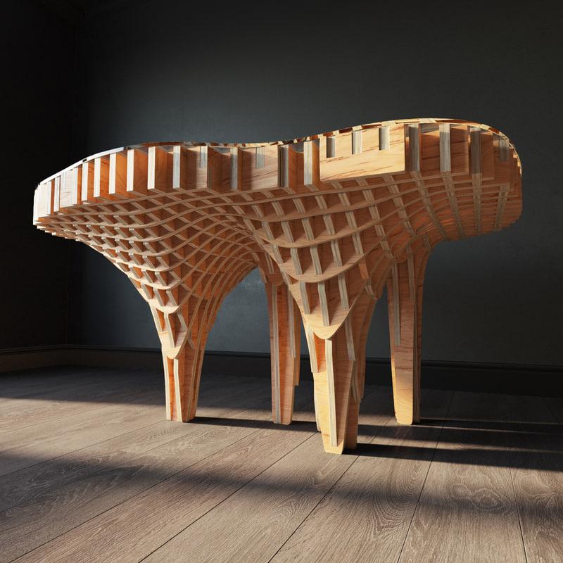 parametric table mushroom max