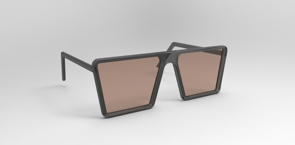 free simple glasses 3d model