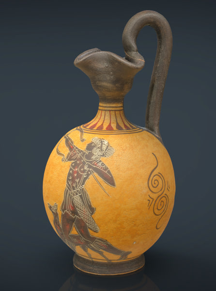 realistic greek vase 3d model