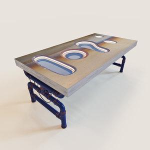 3d parametric table tab-atoll