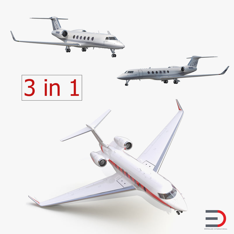 3d model gulfstream business jets