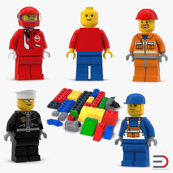 lego set man 3d model