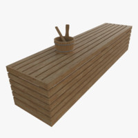 Sauna bench one
