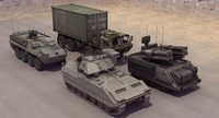 nato military vehicles 3d model