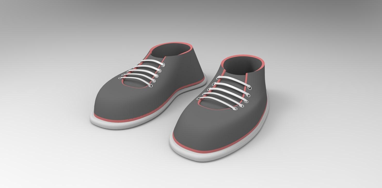 toon shoe 3d model