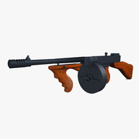 3d model thompson submachine gun