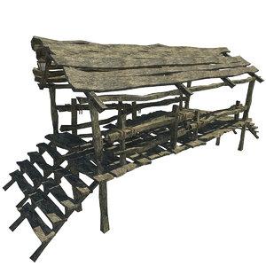 max prepared wooden bridge