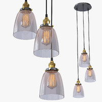 3d lamp glass 3 loft