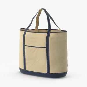 3d model of woven beach bag straps