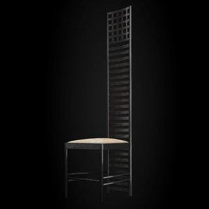 hill house chair 3d max