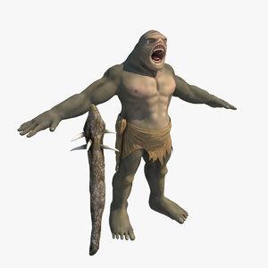 troll monster 3d model