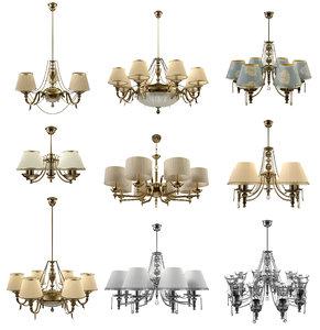 3d model set lampshades