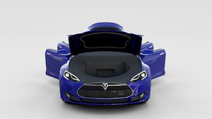 3d model tesla s interior modeled