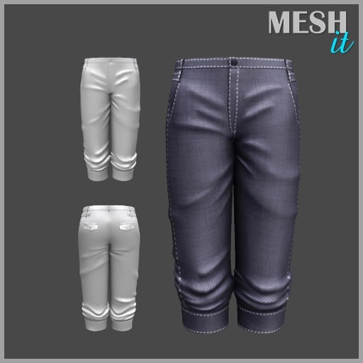 3d model male shorts