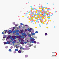 Confetti 3D Models Collection