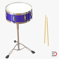 snare drum set 3d 3ds