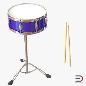 snare drum set 3d 3ds
