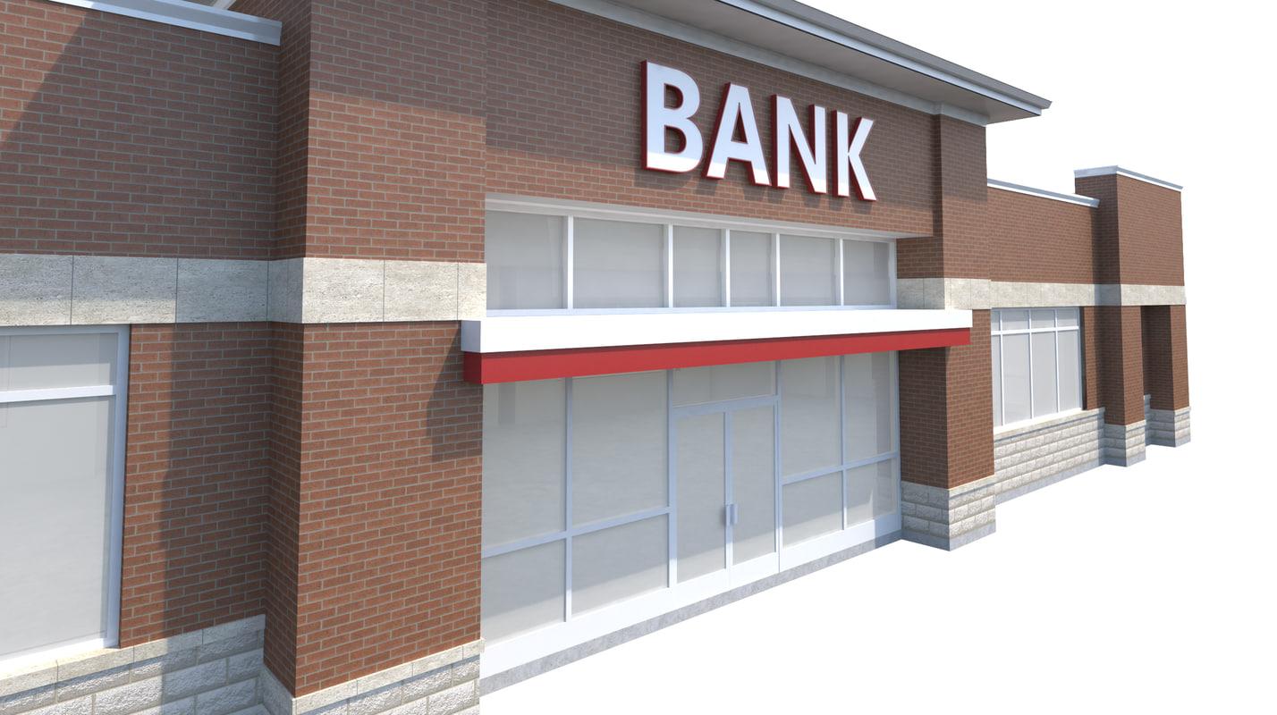 3d model bank pylon sign