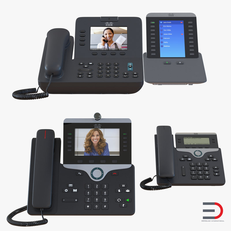 3d model cisco ip phones 3