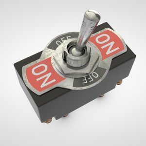 old toggle switch 3d c4d