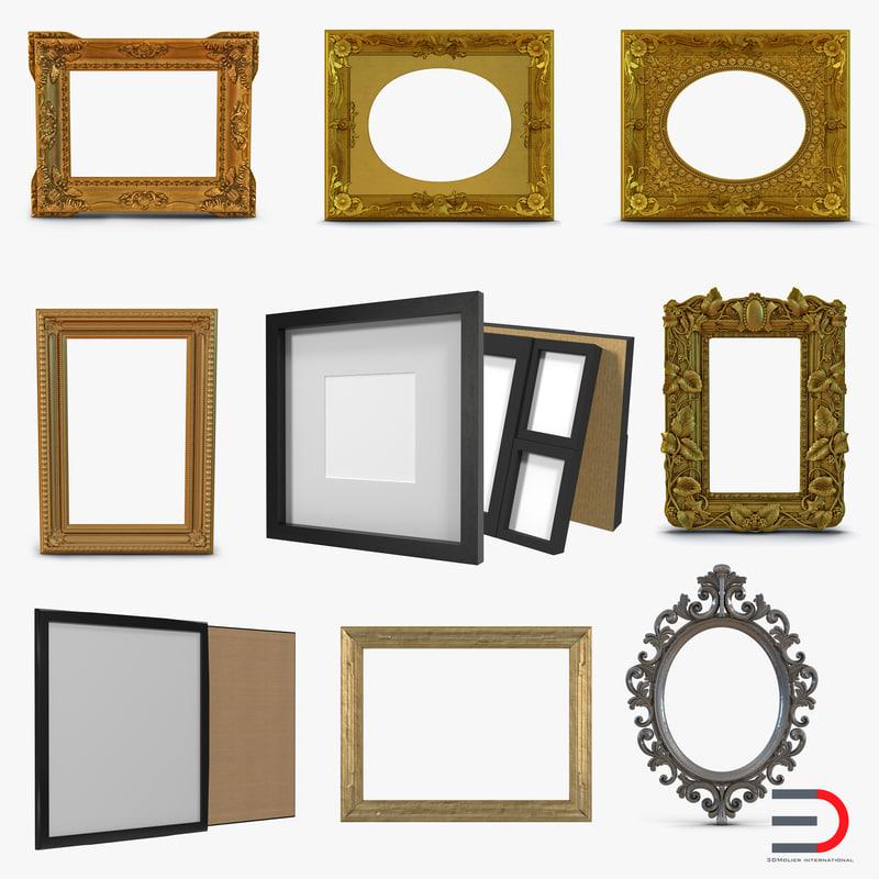 3d picture frames 2 modeled
