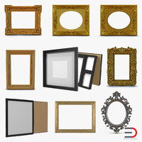 Picture Frames 3D Models Collection 2