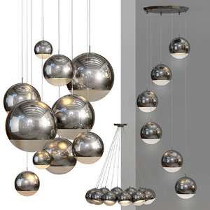 3d suspension lamp light model