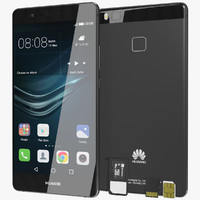 Huawei P9 Lite Black with SD/SIM Card Tray