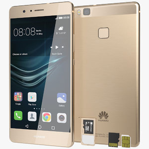 3d model of realistic huawei p9 lite