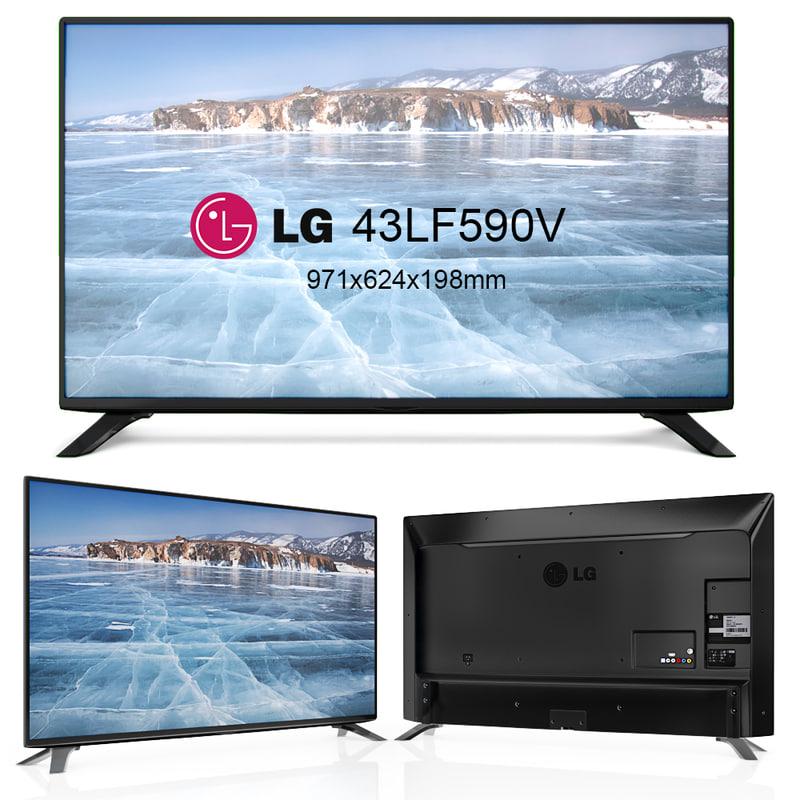 television lg 3d model