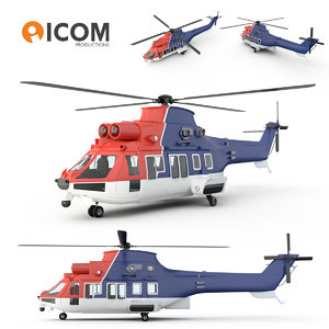 chc helicopter 3ds