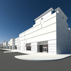 warehouse retail 3d model