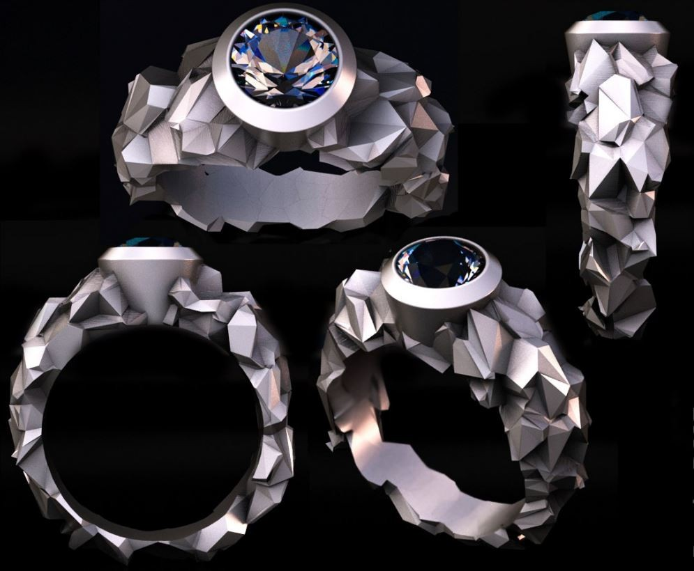 ring voronoy 3d model
