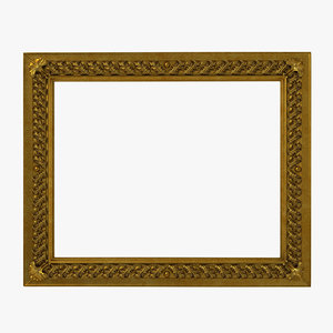 baroque picture frame 8 3d model