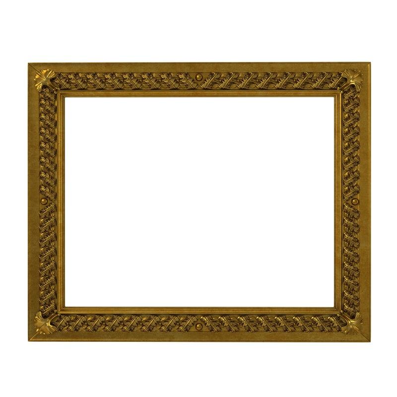 baroque picture frame 8 3d model