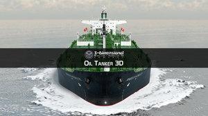 tanker ship 3d model