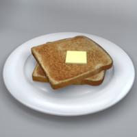 3d toast model